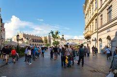 老镇在克拉科夫,波兰 免版税库存照片