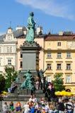 老镇在克拉科夫,波兰 库存照片