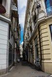 老镇在布加勒斯特,罗马尼亚 库存照片