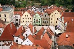 老镇在捷克克鲁姆洛夫,捷克, Czechia,遗产 免版税库存图片