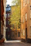 老镇在斯德哥尔摩春天 免版税库存照片