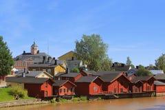 老镇在芬兰 库存照片