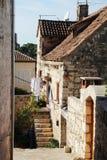 老镇在赫瓦尔岛,克罗地亚 库存照片