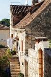 老镇在赫瓦尔岛,克罗地亚 免版税库存图片