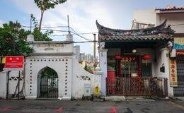 老镇在马六甲,马来西亚 免版税库存照片