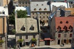 老镇在魁北克市 免版税库存图片