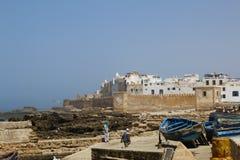 老镇在索维拉,摩洛哥 东方旅行 旅行癖 库存图片