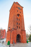 老镇在Elblag,波兰 图库摄影