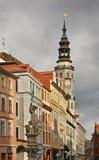 老镇在Gorlitz 德国 免版税图库摄影