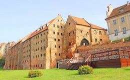老镇在Grudziadz 免版税库存照片