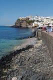 老镇在Morro Jable,费埃特文图拉岛海岛 免版税库存图片