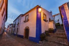 老镇在Obidos,葡萄牙 免版税库存图片