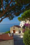老镇在Sperlonga,意大利 免版税库存照片