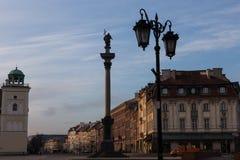 老镇大厦在华沙,波兰 库存照片