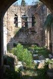 老镇大厦在Antalia 免版税库存图片
