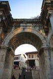 老镇安塔利亚土耳其艾德里安门  库存照片