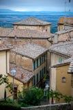 老镇屋顶在意大利 免版税库存照片