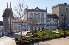 老镇巴塞卢斯葡萄牙 免版税库存照片