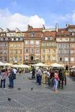 老镇市场在华沙 库存图片