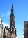 老镇市政厅在格但斯克-波兰 免版税库存图片