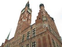 老镇市政厅在格但斯克-波兰 免版税图库摄影