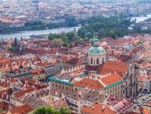 老镇布拉格全景  免版税库存图片