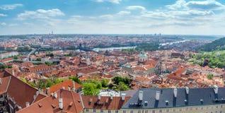 老镇布拉格全景  免版税图库摄影
