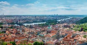 老镇布拉格全景  免版税库存照片