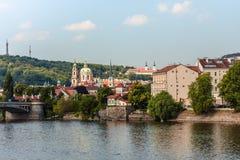 老镇布拉格市 库存照片