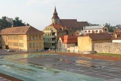 老镇布拉索夫(Kronstadt),在Transilvania 库存照片