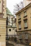 老镇的区域在华沙,波兰 免版税库存照片