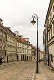 老镇的区域在华沙,波兰 库存照片