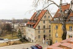 老镇的区域在华沙,波兰 库存图片