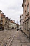 老镇的区域在华沙,波兰 免版税图库摄影
