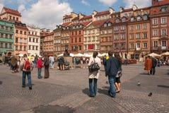 老镇的华沙正方形 库存图片