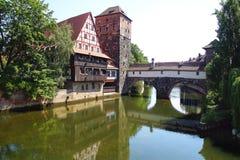 老镇的历史的设防 Nuermberg 免版税库存照片
