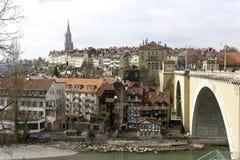 老镇的密集的都市发展 库存图片