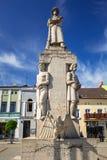老镇的建筑学在Wabrzezno 免版税库存照片