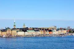 老镇的斯德哥尔摩地平线 免版税图库摄影