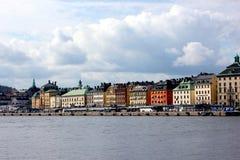 老镇的斯德哥尔摩地平线 库存照片