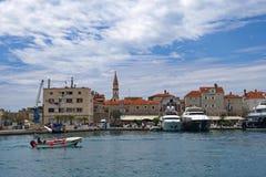 老镇的看法在布德瓦,黑山 免版税库存图片