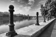 老镇的看法在布拉格 库存照片