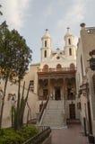 老镇的科普特人的部分的垂悬的教会 免版税库存图片