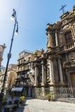 老镇的街道在巴勒莫在西西里岛,意大利 库存图片