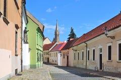 老镇的街道在布拉索夫 库存图片