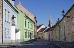 老镇街道,布拉索夫,斯洛伐克 免版税库存图片
