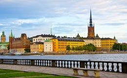老镇视图,斯德哥尔摩,瑞典 免版税图库摄影
