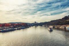 老镇都市风景在布拉格,捷克 免版税库存图片
