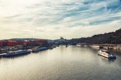 老镇都市风景在布拉格,捷克 库存照片