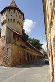 老镇锡比乌罗马尼亚Cetatii街2 图库摄影
